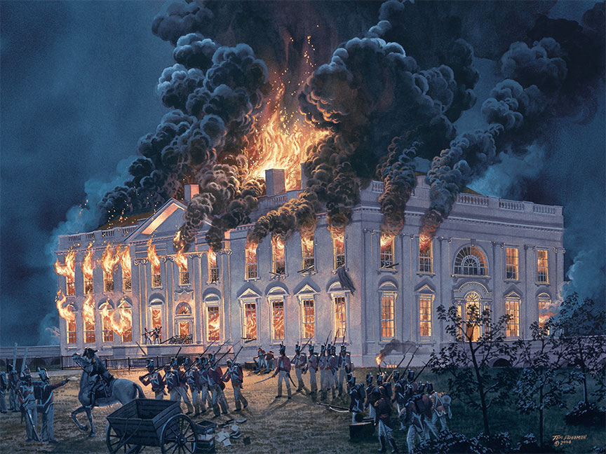 Quando os ingleses atearam fogo na Casa Branca